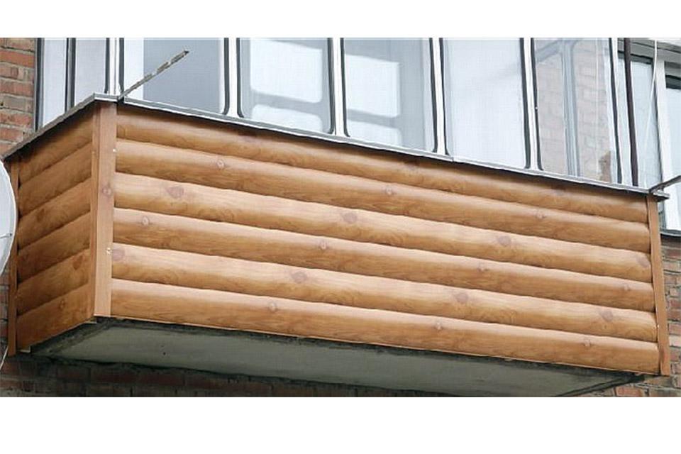 Материал для внешней отделки балкона..